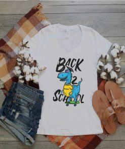 Back to School Skating Dinosaur T Shirt