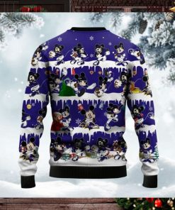 Baltimore Ravens Mickey NFL American Football Ugly Christmas Sweater Sweatshirt Party