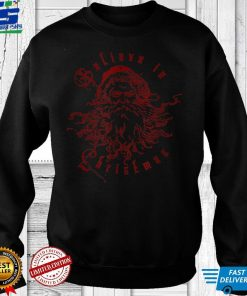 Believe in Christmas Victorian Vintage Style Santa Claus T Shirt