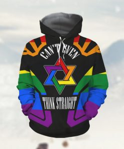 Can't Even Think Straight Rainbow Star LGBT Pride Gay Lesbian Bisexual Transgender 3D All Over Print Custom Name Hoodie Shirt