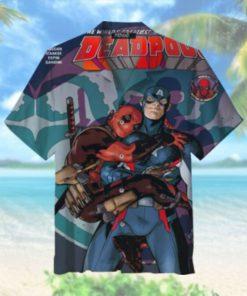 Captain America and Deadpool Hawaiian Shirt