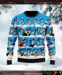 Carolina Panthers Mickey NFL American Football Ugly Christmas Sweater Sweatshirt Party