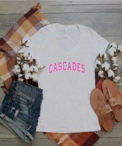 Cascades Virginia VA Vintage Sports Design Pink Design shirt