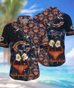 Chicago Bears NFL Hawaii Shirt Style Hot Trending 3D Hawaiian Shirt