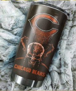 Chicago Bears Skull Custom Name Tumbler Personalized Football Dinkware Customized NFL Cups