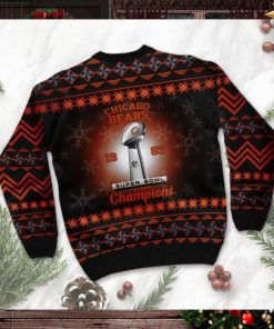 Chicago Bears Super Bowl Champions NFL Cup Ugly Christmas Sweater Sweatshirt Party