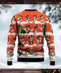 Cincinnati Bengals Mickey NFL American Football Ugly Christmas Sweater Sweatshirt Party