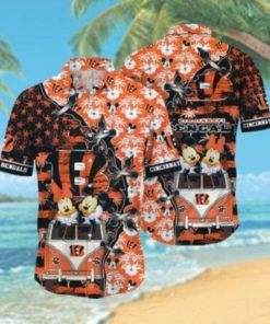 Cincinnati Bengals NFL Hawaii Shirt Style Hot Trending 3D Hawaiian Shirt