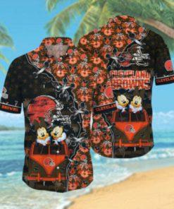 Cleveland Browns NFL Hawaii Shirt Style Hot Trending 3D Hawaiian Shirt