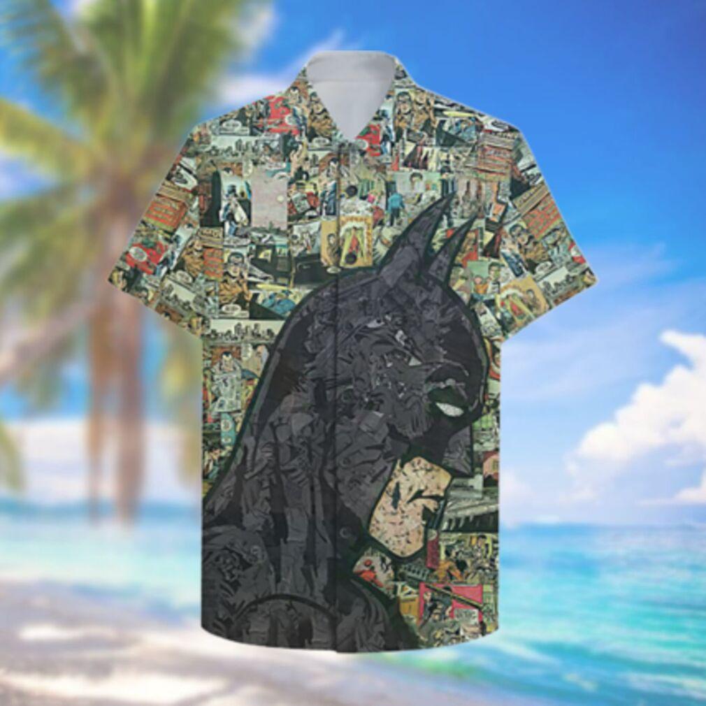 Comic Batman black portrait Hawaiian Hawaiian Shirt