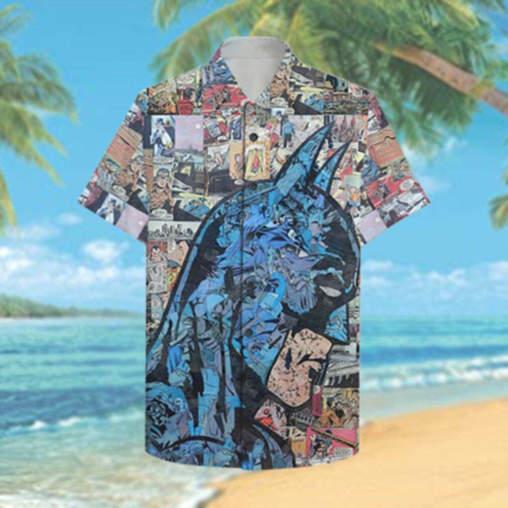 Comic Batman portrait Hawaiian Hawaiian Shirt