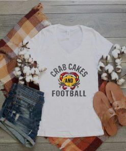 Crab cakes and football shirt