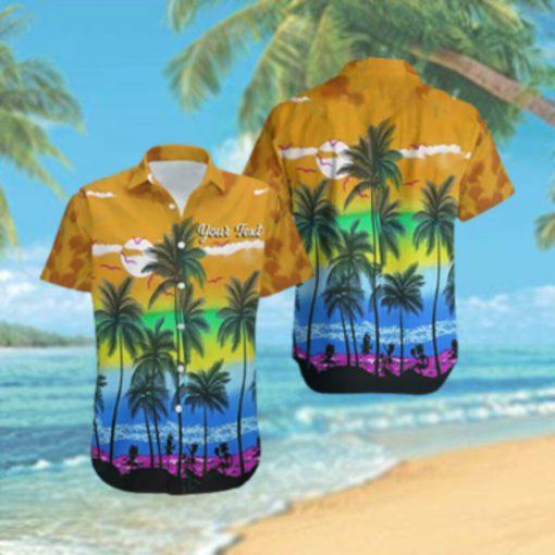 Custom LGBT Beach Hawaiian Hawaiian Shirt