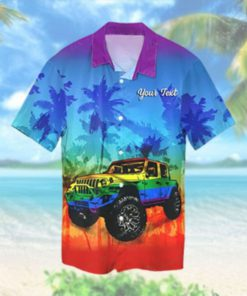 Custom LGBT Jeep Hawaiian Hawaiian Shirt