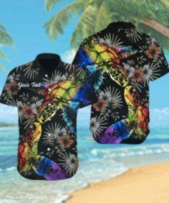 Custom LGBT Turtle Hibiscus Hawaiian Hawaiian Shirt