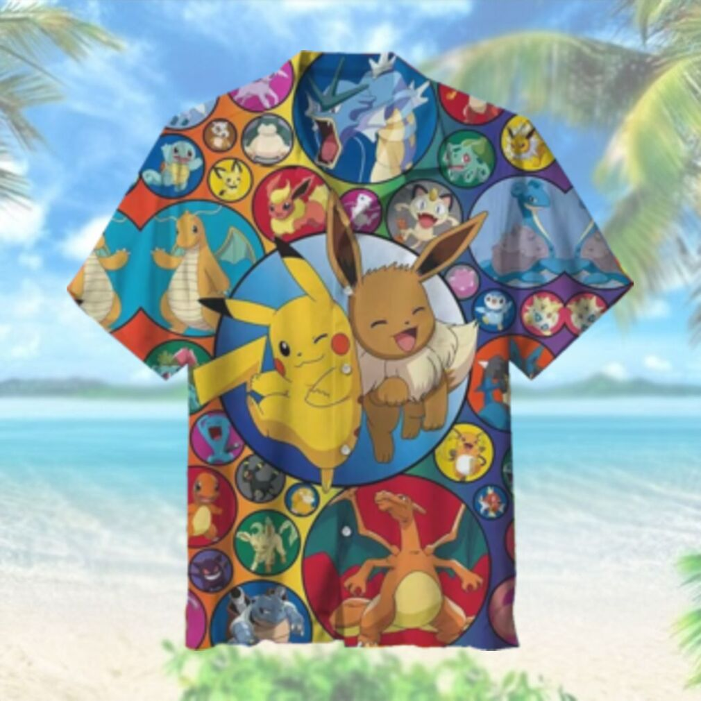 Cute Pokemon Hawaiian Shirt