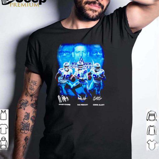 Dallas Cowboys Amari Cooper Dak Prescott Ezekiel Elliott signature shirt