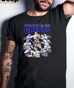Dallas Cowboys all time Greats all team signatures shirt (1)