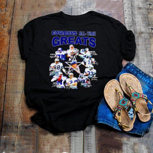Dallas Cowboys all time Greats all team signatures shirt