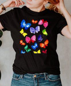 Dance Butterflies Watercolor Colorful Summer T shirt