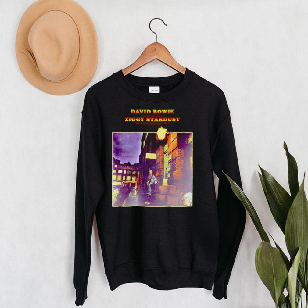 David Bowie the rise and fall of Ziggy Stardust shirt