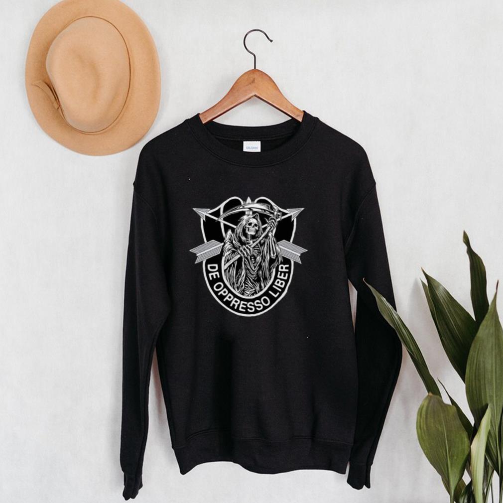 De Oppresso Liber Army Special Forces Grim Reaper T shirt