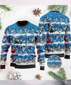 Detroit Lions Mickey NFL American Football Ugly Christmas Sweater Sweatshirt Party