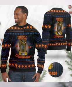 Detroit Tigers World Series Champions MLB Cup Ugly Christmas Sweater Sweatshirt Party