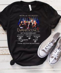 Evanescence world tour 2021 26th Anniversary 1995 2021 thank you for the memories shirt