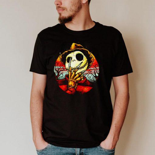 Freddy Krueger in Jack Skellington Halloween shirt