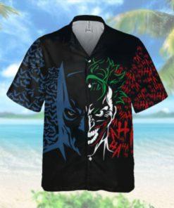 Half Batman Joker Battle Hawaiian Hawaiian Shirt