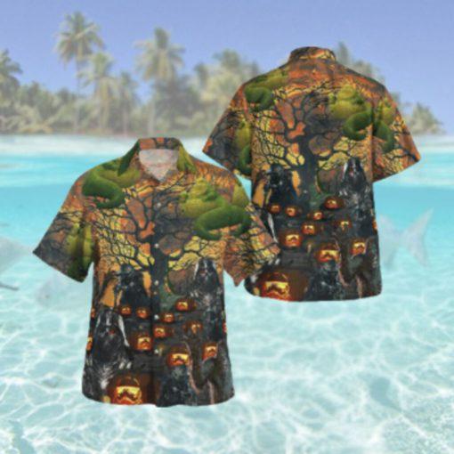 Halloween Star wars demonize Vader Yoda Chewbacca Hawaiian Hawaiian Shirt