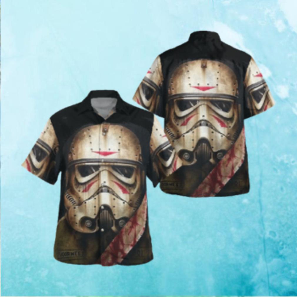Halloween Stormtrooper Face Star wars Knife Hawaiian Hawaiian Shirt