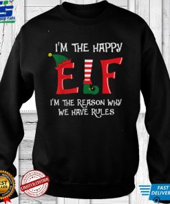 Happy Elf Matching Family Group Christmas Party Pajama T Shirt