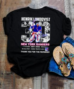 Henrik Lundqvist 30 New York Rangers thank you for the memories shirt