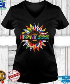 Hispanic Heritage Month Latino Countries Flags Sunflower T Shirt