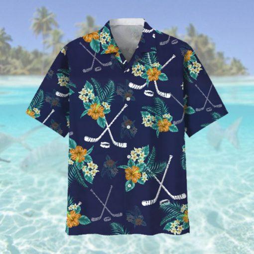 Hockey Hawaiian Tropical Hawaiian Shirt