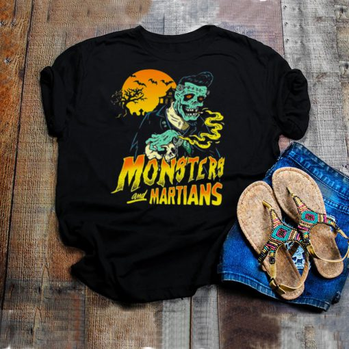 Horror Psychobilly Punk Monsters And Martians T shirt
