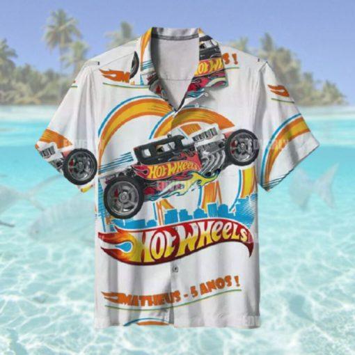 Hot Wheels Matheus 5 anos Hawaiian Shirt T Hawaiian Shirt