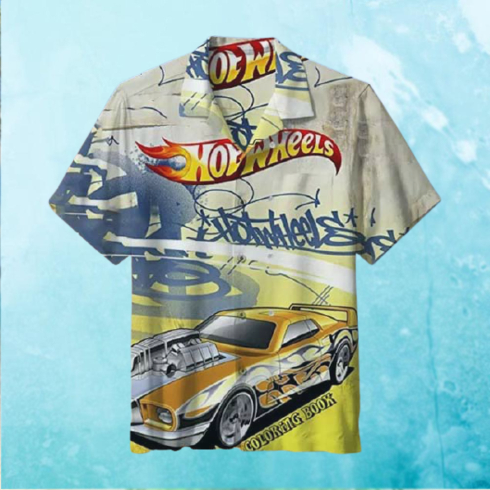 Hot Wheels coloring book Hawaiian Shirt T Hawaiian Shirt
