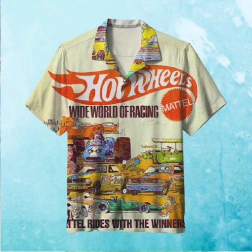 Hot wheels Mattel Wide World of Racing Hawaiian Shirt T Hawaiian Shirt