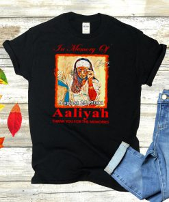 In memory of Aaliyah signature thank you for the memories shirt