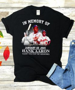 In memory of Hank Aaron signature t shirt