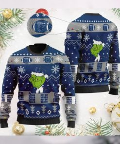 Indianapolis Colts American NFL Football Team Logo Cute Grinch 3D Men And Women Ugly Sweater Shirt For Sport Lovers On Christmas Days