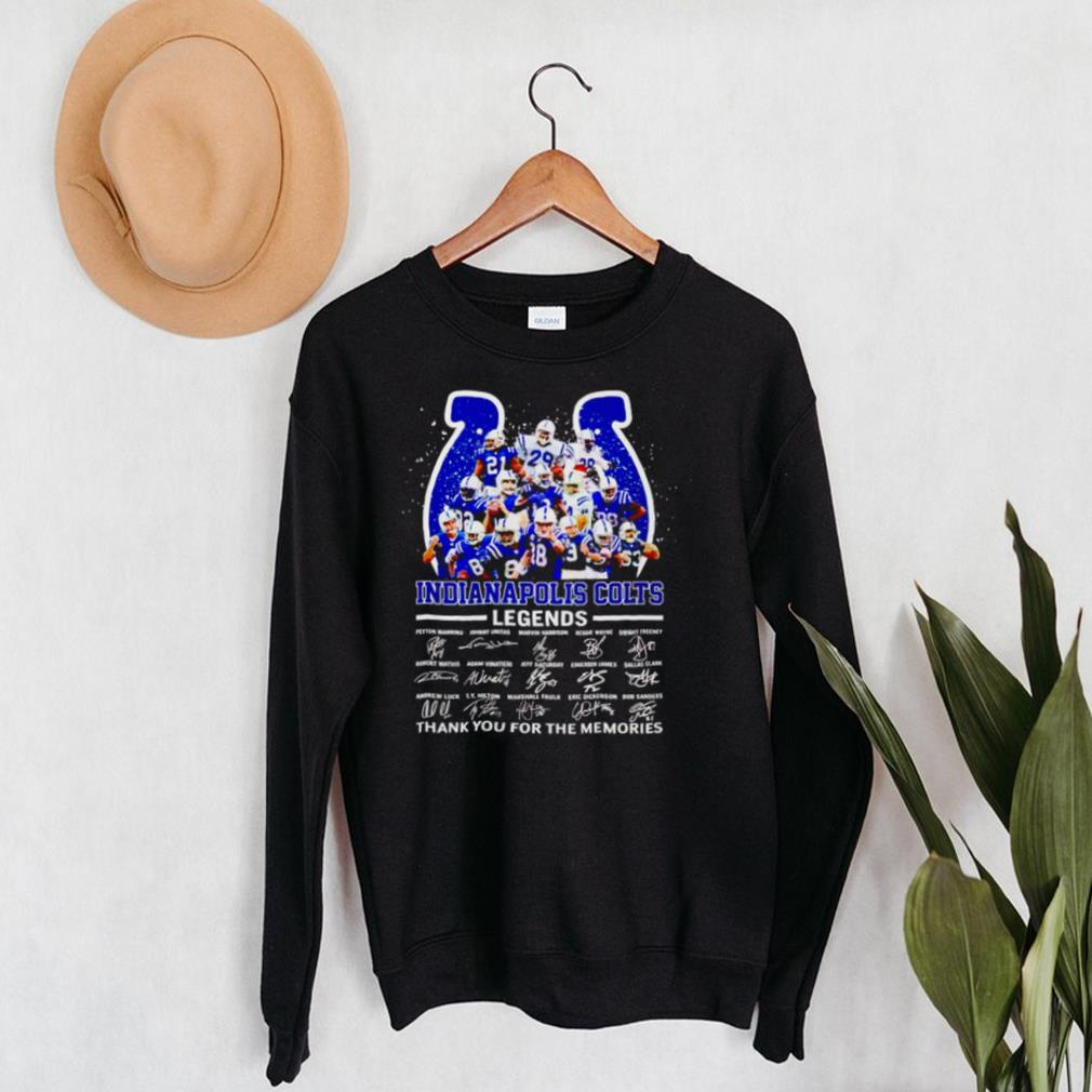 Indianapolis Colts legends thank you for the memories shirt