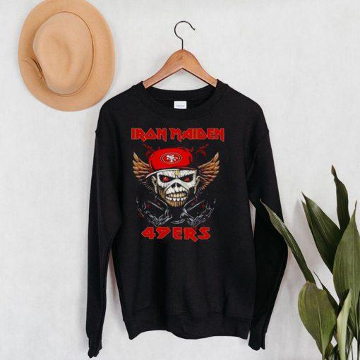Iron Maiden Skull San Francisco 49ers Shirt
