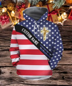 Jesus The Way The Truth The Life American Flag Custom Name 3D All Over Print Hoodie Shirt For God Lovers In Daily Life