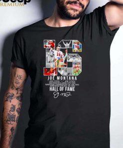 Joe Montana Joe Cool Hall Of Fame signature shirt