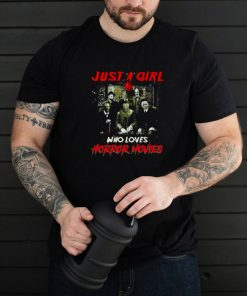 Just A Girl Who Loves Horror Movies Halloween 2021 T shirt
