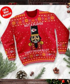 Kansas City Chiefs I Am Not A Player I Just Crush Alot Ugly Christmas Sweater Sweatshirt